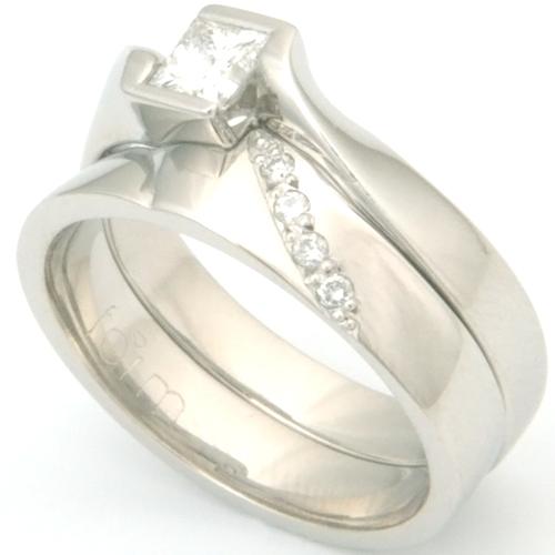 Platinum Diamond Set Fitted Wedding Ring.jpg