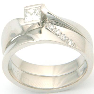Platinum Diamond Set Fitted Wedding Ring 2.jpg
