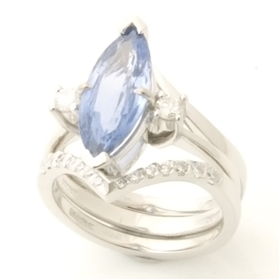 Platinum Diamond Set Wishbone Fitted Wedding Ring 1.jpg