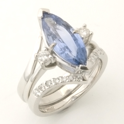 Platinum Diamond Set Wishbone Fitted Wedding Ring 2.jpg
