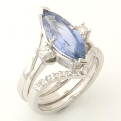 Platinum Diamond Set Wishbone Fitted Wedding Ring 3.jpg