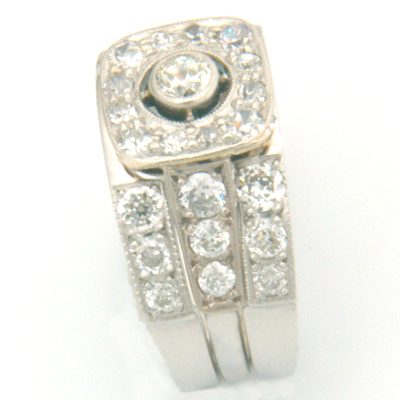Platinum Diamond Set Double Fitted Wedding Ring 1.jpg