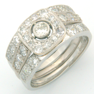 Platinum Diamond Set Double Fitted Wedding Ring 2.jpg
