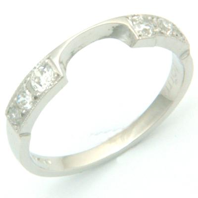 Platinum Diamond Set Double Fitted Wedding Ring 3.jpg
