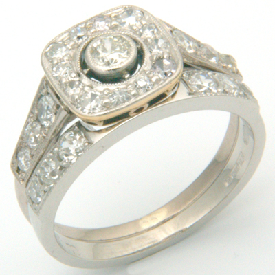 Platinum Diamond Set Double Fitted Wedding Ring 4.jpg