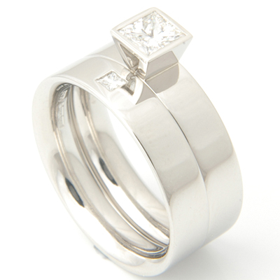 Platinum Solitaire Diamond Set Fitted Wedding Ring 4.jpg