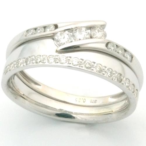 18ct White Gold Diamond Set Edge Fitted Wedding Ring.jpg