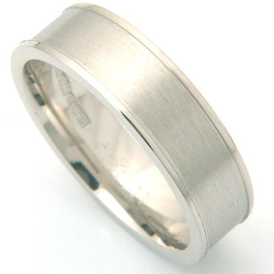 Brushed Palladium Gents Wedding Ring 1.jpg