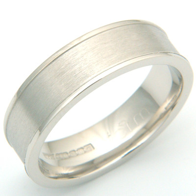 Brushed Palladium Gents Wedding Ring 3.jpg