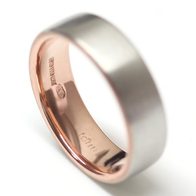 18ct White Gold and Rose Gold Gents Wedding Ring 1.jpg