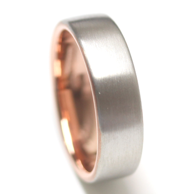 18ct White Gold and Rose Gold Gents Wedding Ring 2.jpg