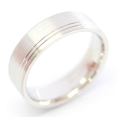 Platinum Flat Court Gents Wedding Ring with Diamond Cut Lines 1.jpg