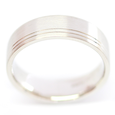 Platinum Flat Court Gents Wedding Ring with Diamond Cut Lines 2.jpg