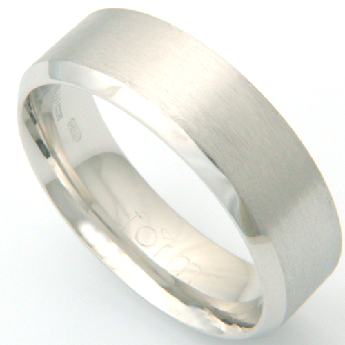 Platinum Gents Brushed Wedding Ring with Chamfered Edges.jpg
