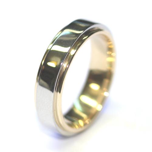 Palladium and Yellow Gold Layered Gents Wedding Ring.jpg