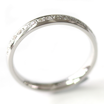 Platinum Grain Set Diamond Eternity Ring 4.jpg