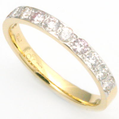 18ct Yellow and White Gold 11 Diamonds Eternity Ring 2.jpg