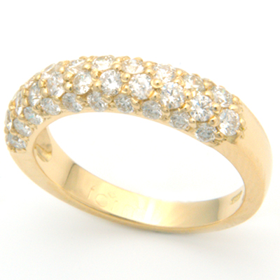 18ct Yellow Gold Diamond Half Eternal Style Eternity Ring 1.jpg