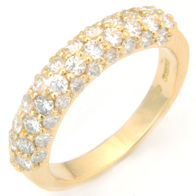 18ct Yellow Gold Diamond Half Eternal Style Eternity Ring 2.jpg