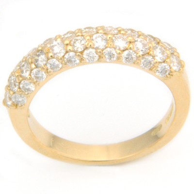 18ct Yellow Gold Diamond Half Eternal Style Eternity Ring 3.jpg