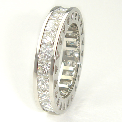Platinum Fully Set Princess Cut Diamond Eternity Ring 2.jpg