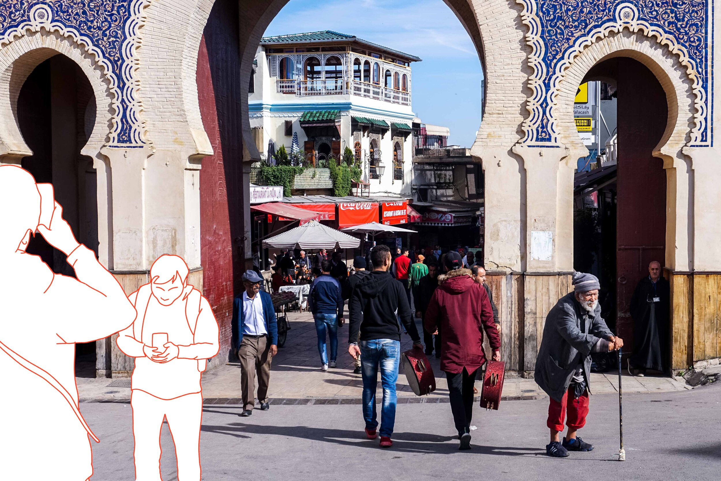 Bab Bou Jeloud - Fes, Morocco