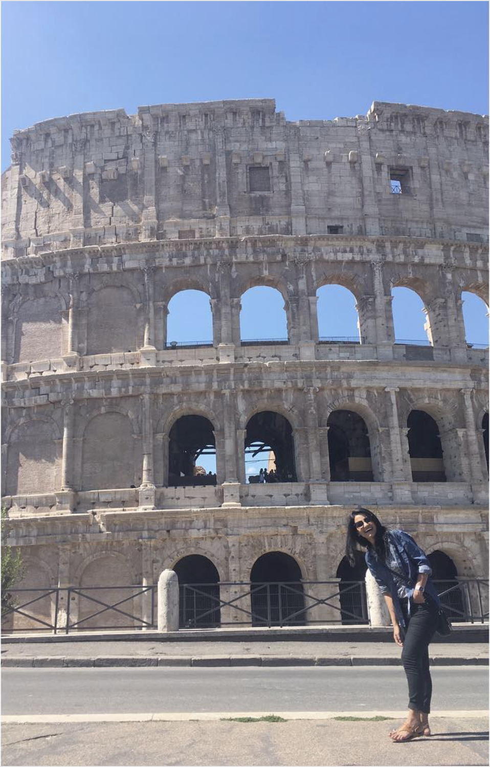 Here is my picture in front of the colosseum. There was a moment while waiting in line that we considered just leaving and not even going in at all.  Made it to my dream destination, and was considering not going in.  But, I was there, I had to take a picture with this thing.