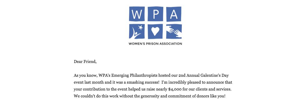 WPA - Women's Prison Association
