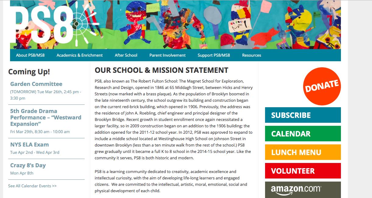 PS 8 School -