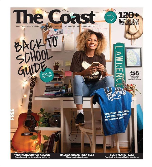This week's 'Back to School Guide' cover for @thecoasthalifax 🌊📝🎒 s/o to Avery, Caora and Pam for helping put this shoot together in a pinch 🏮