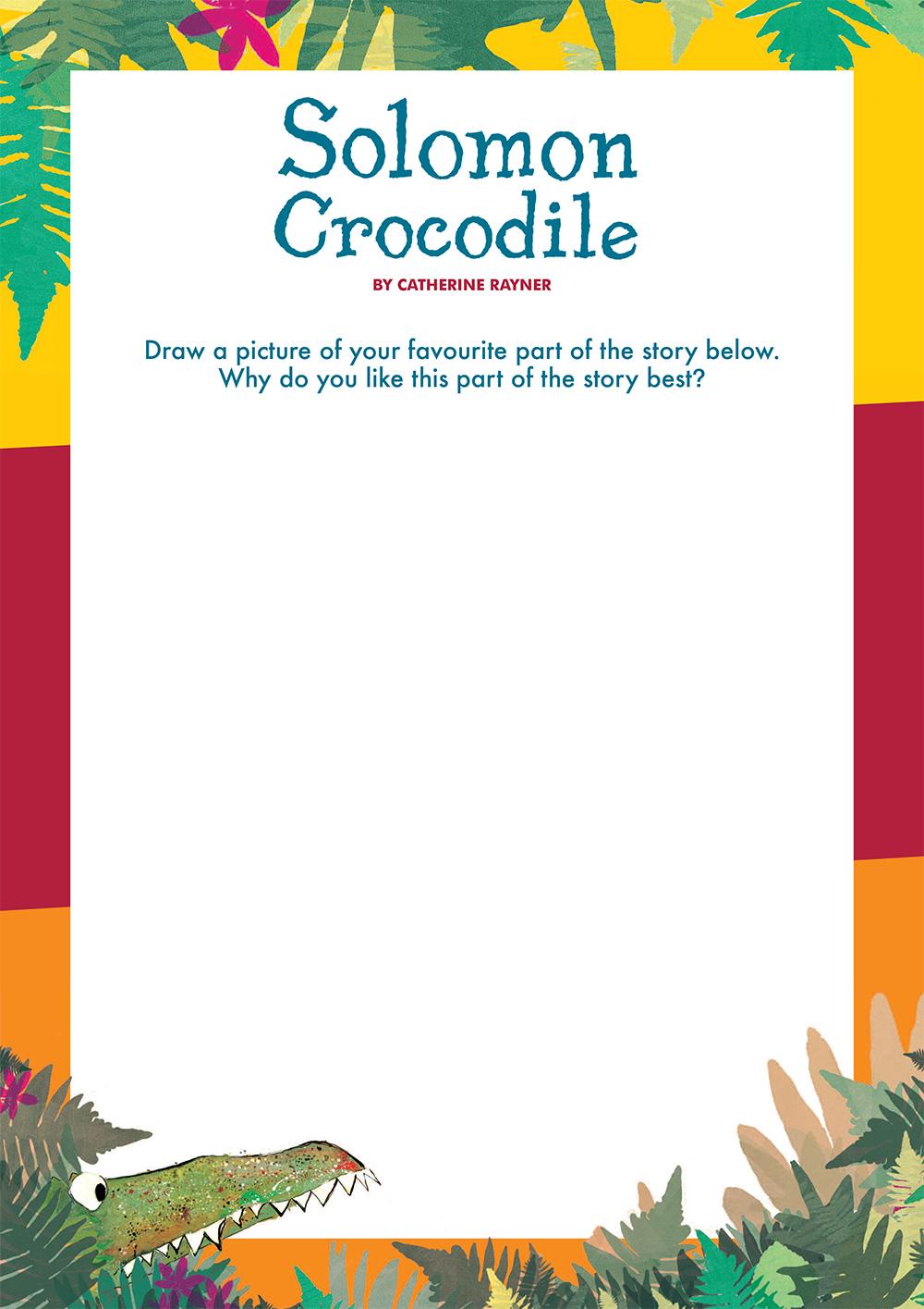 Solomon Crocodile Activity Sheet