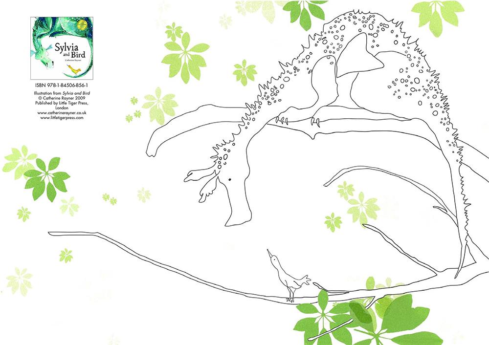 Sylvia & Bird  Colouring Sheet