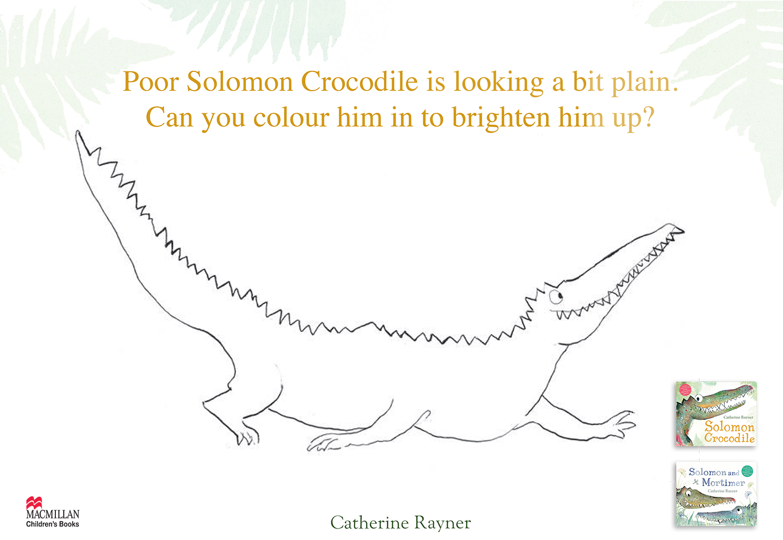 Solomon Crocodile Colouring Sheet