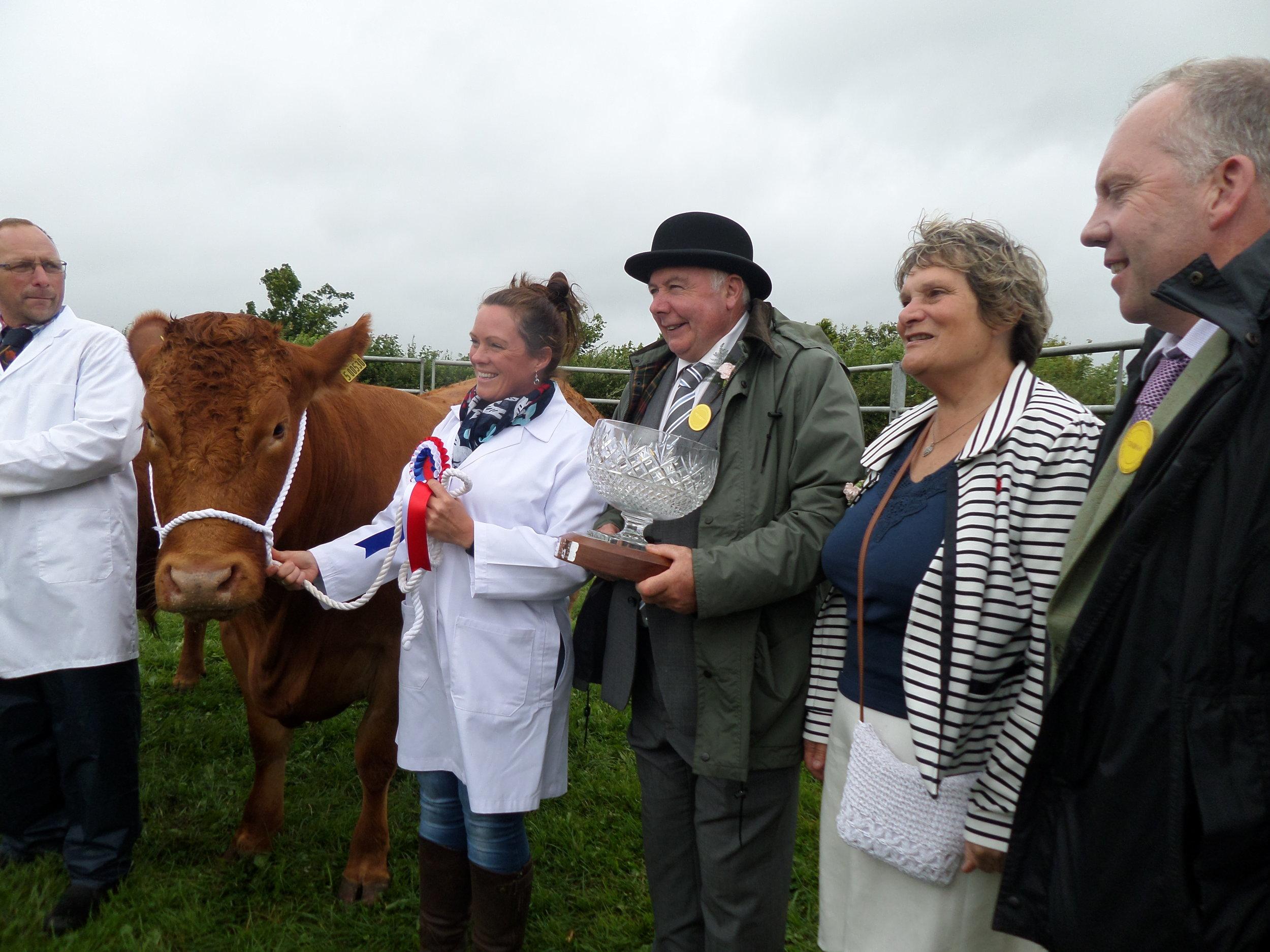 Ada Brookes Winner of Supreme Champion Cattle