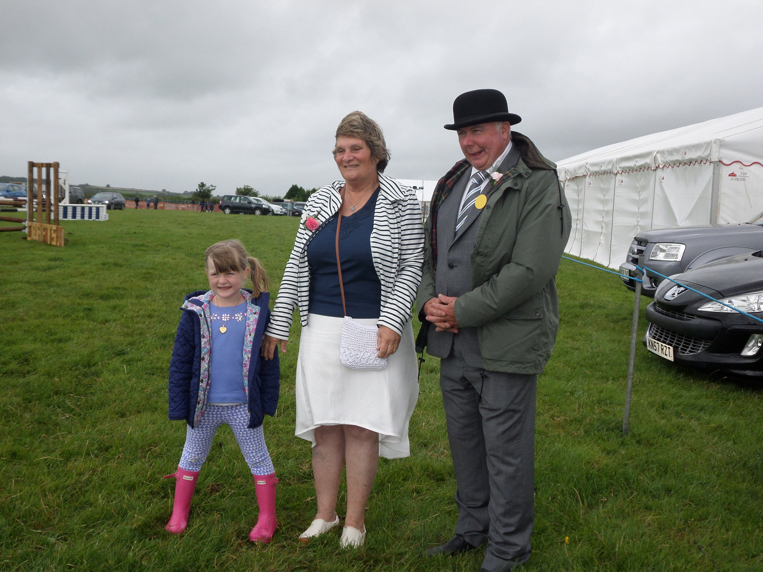 President Derek Banbury with wife Linda and Grandaughter