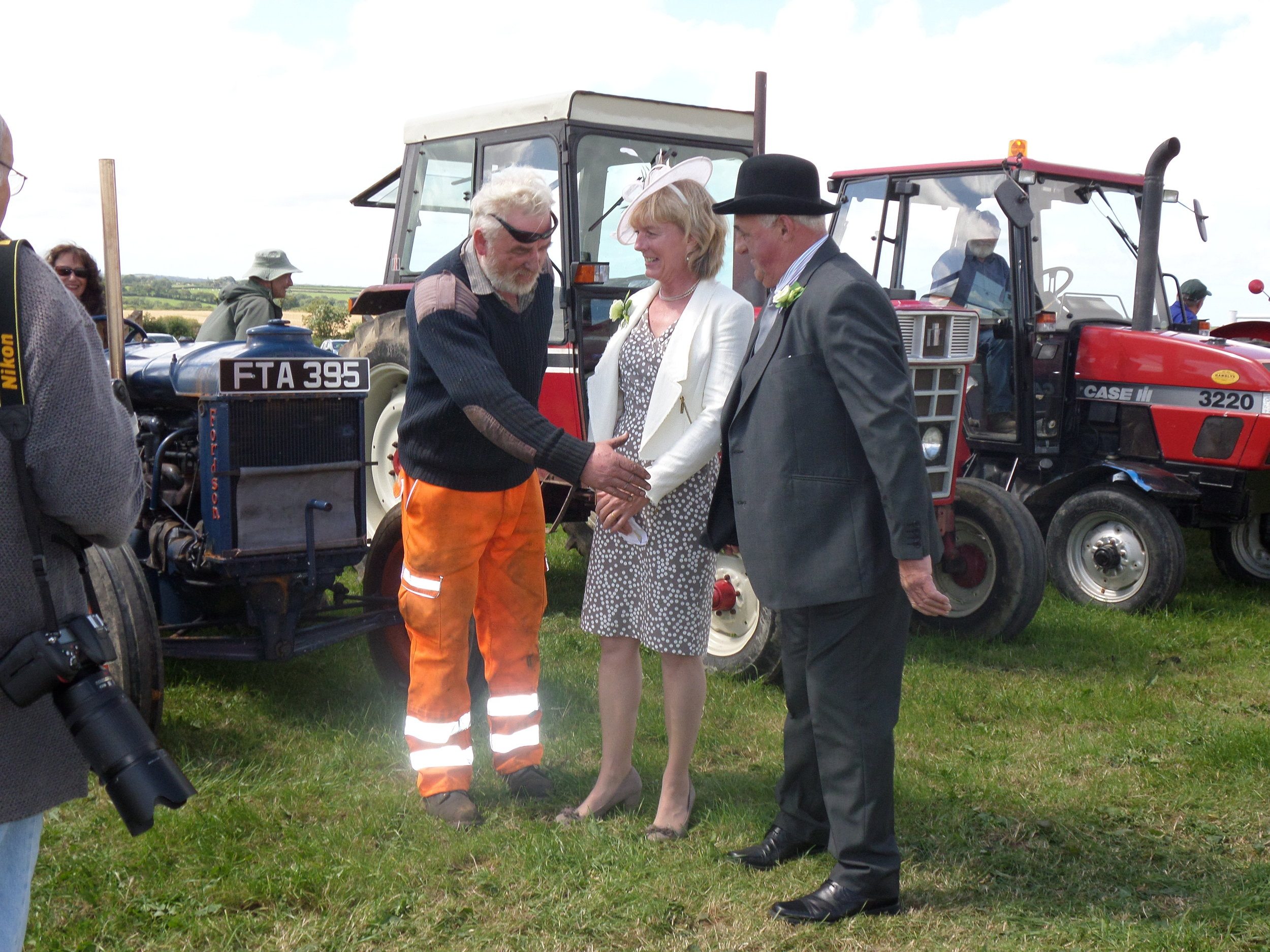 Mr J Butt, with his winning Fordson and President, Mr John Bone and wife Helen