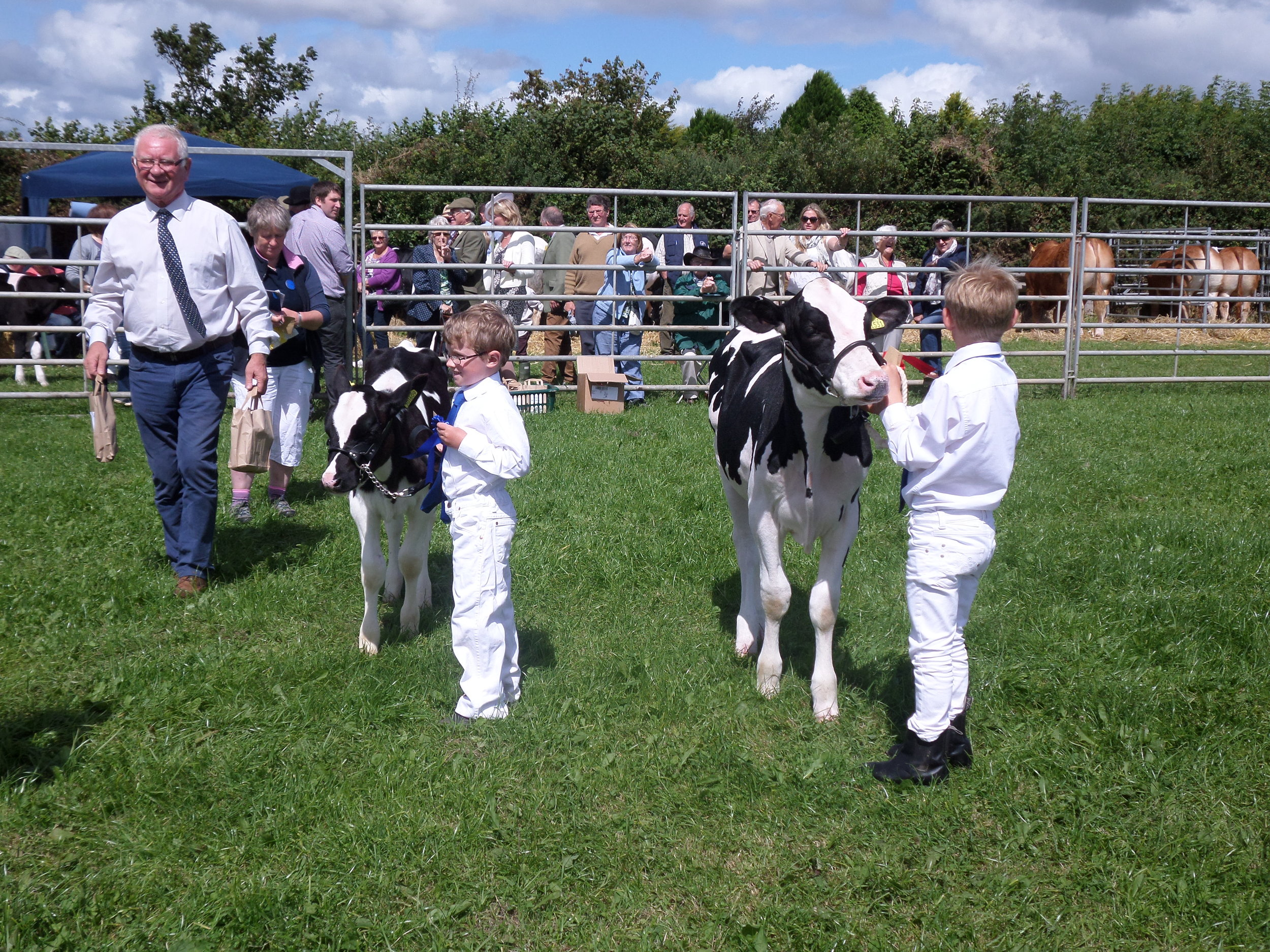 Young handlers competiton, Harry Neale and Matthew Rowland