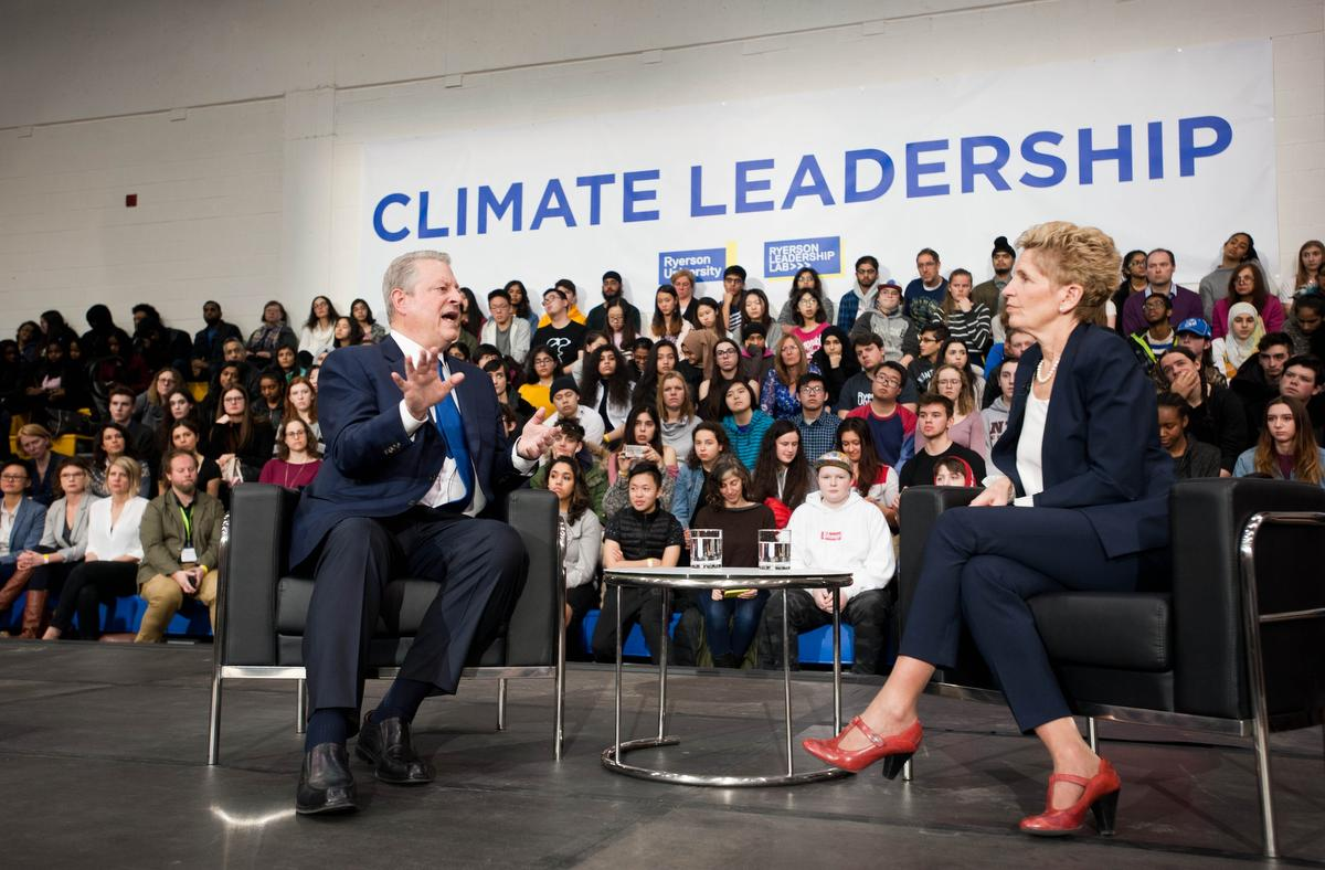 Al Gore applauds environmental work of Premier Wynne at Ryerson conference - The Star | March 8, 2018