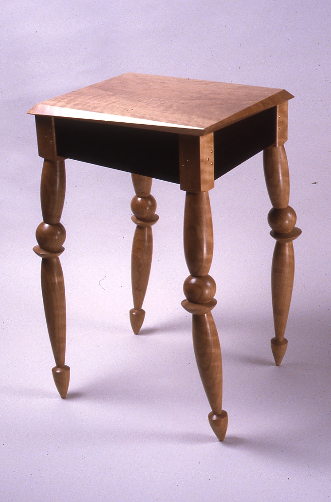 LACMA End Table, 1999, Cherry and Wenge