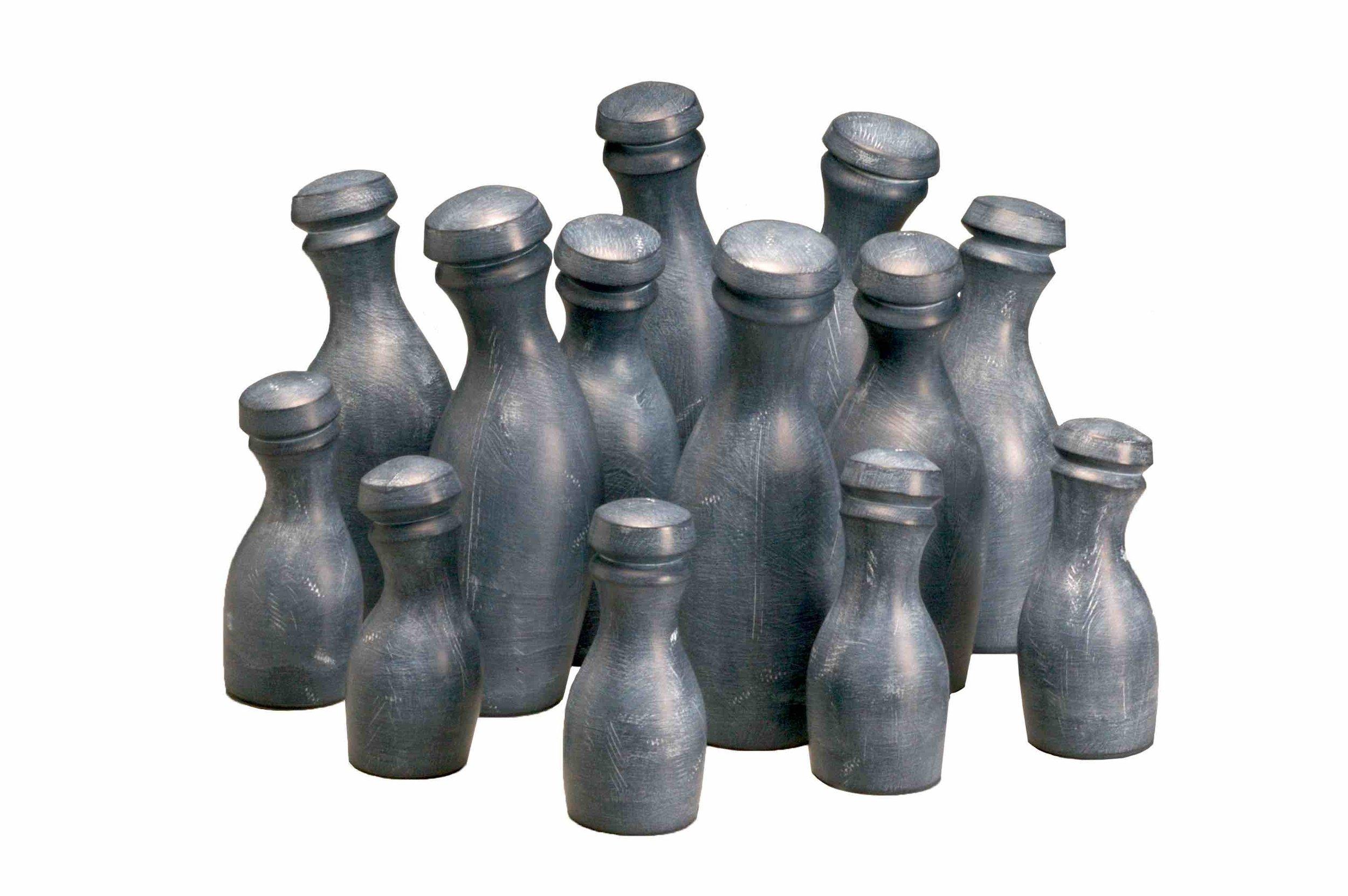 """""""Slate"""" Milk  Bottles"""