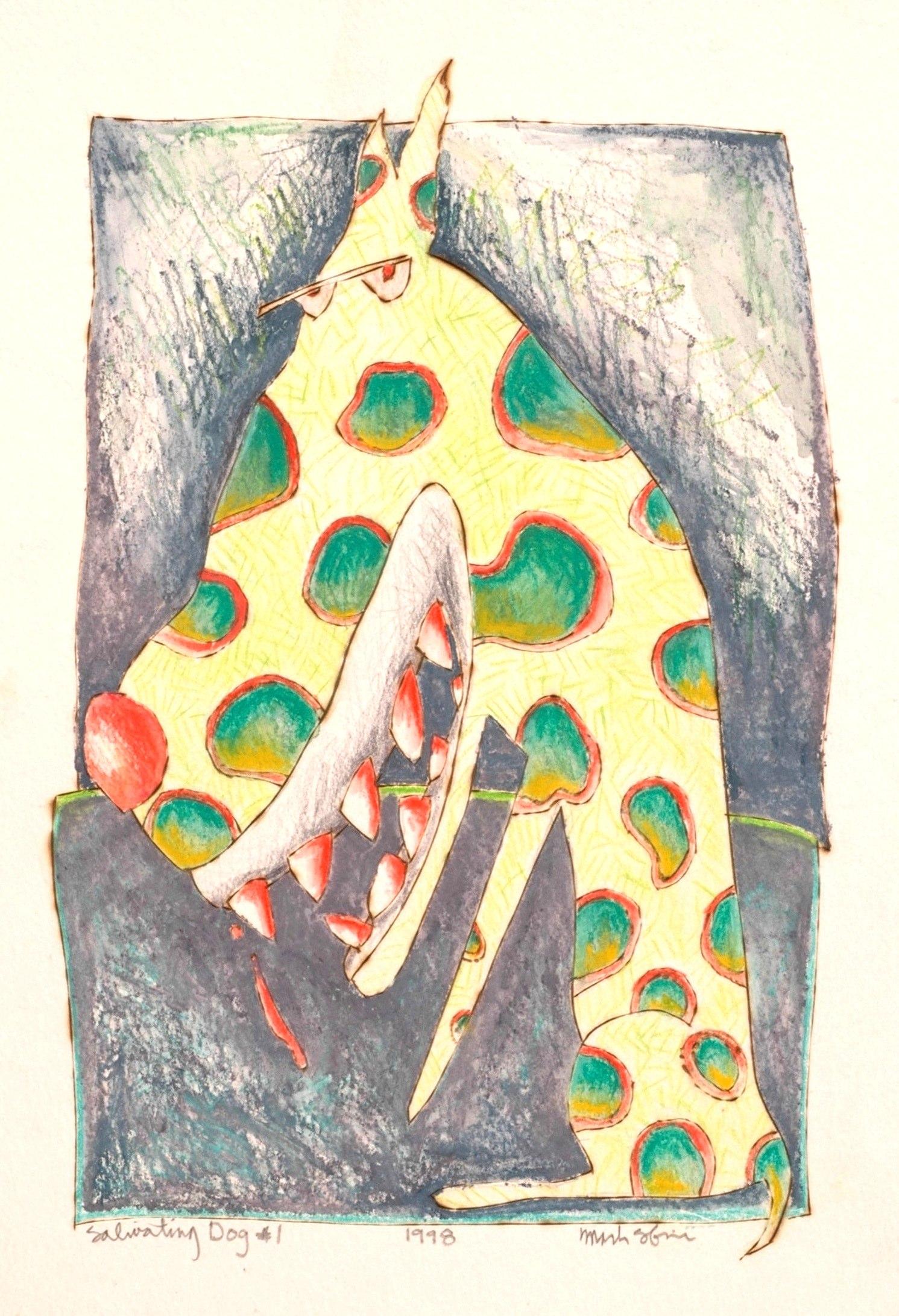 Salivating Dog #1 Watercolor  1998