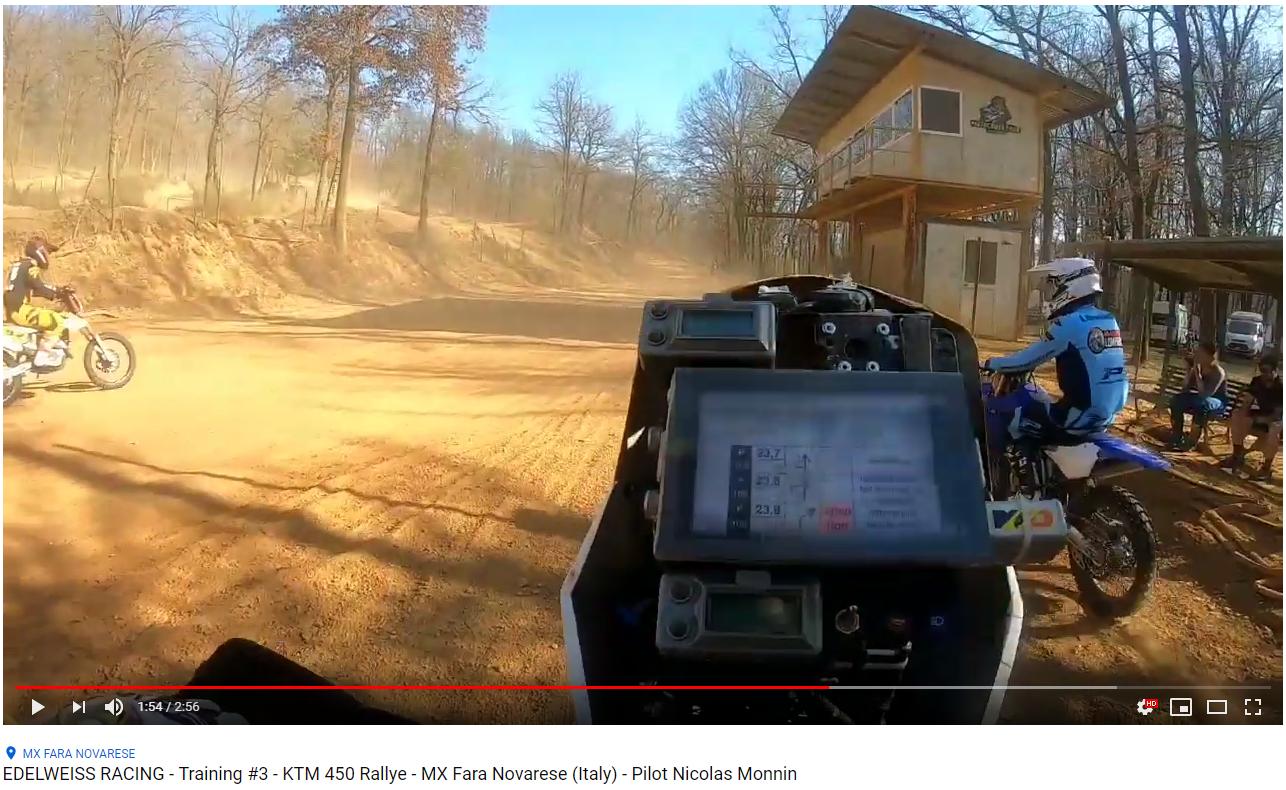 Vidéo 2 - Montage de prises de vues de Nicolas avec la moto d'Herbert