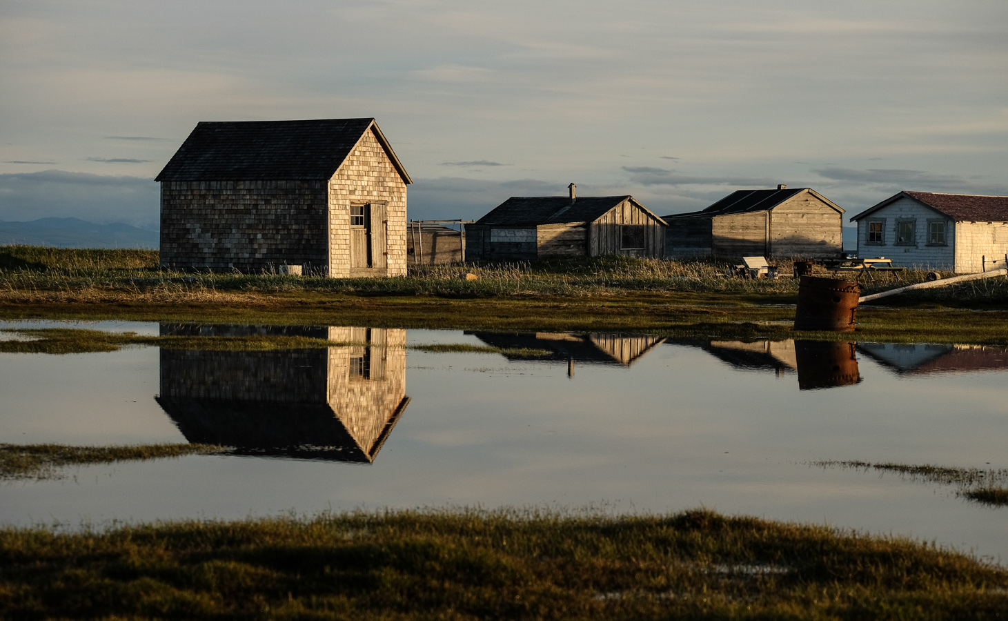 The Pauline Cove settlement on Qikiqtaruk often gets flooded when sea level rises during a storm.