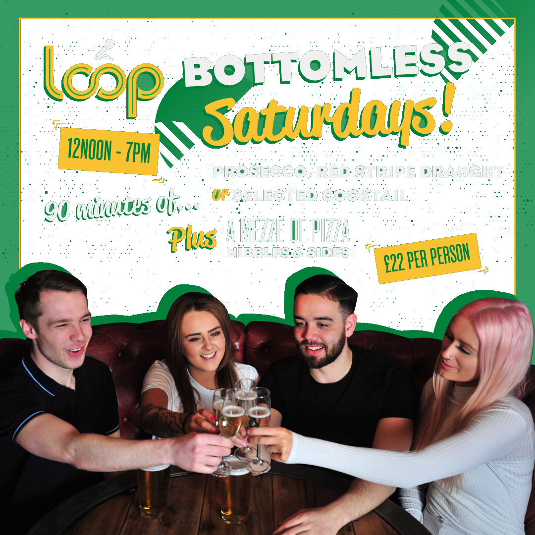 It's What Saturday's Were Made For! - What better way to loosen those vocal cords than with 90 mins of unlimited booze with a mezze of pizzas, nibbles & sides…