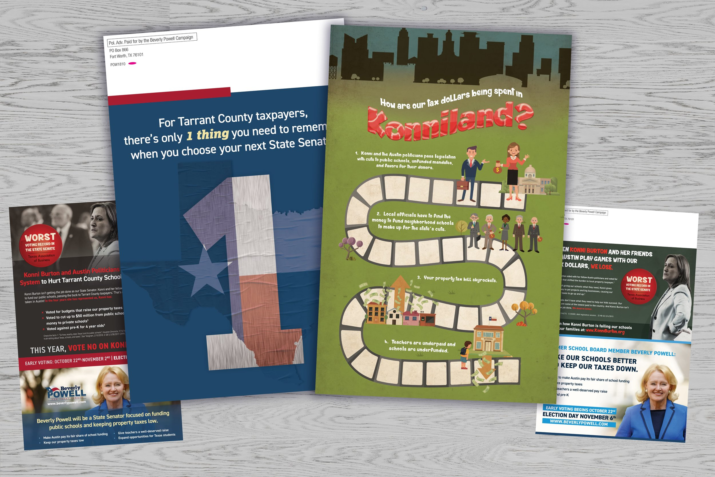 <p>Texas Positive and Negative Mailers</p>