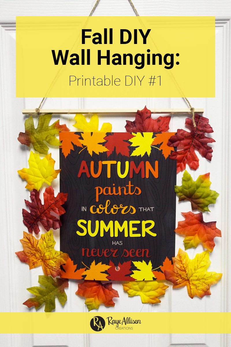 Today I am showing you a fun Fall themed DIY to display your favorite fall printables.