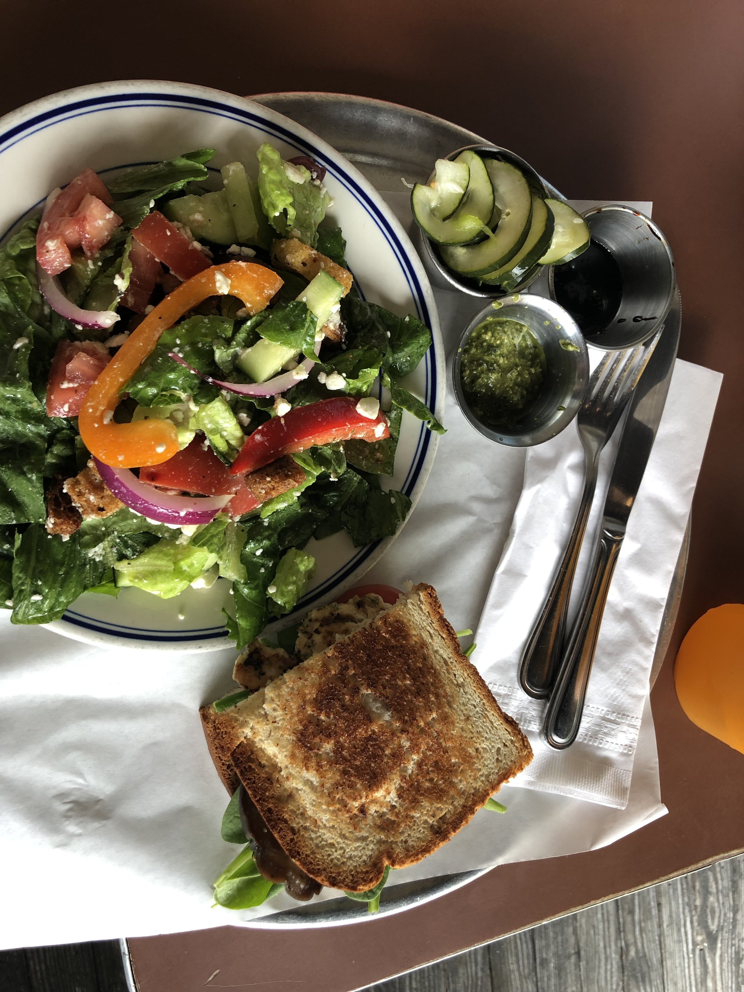 A sandwich and salad are neutral to me. They look different and have different contents but they both give my body fuel. :) And, taste DELISH!