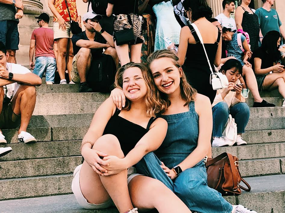 me and my sis on the steps of the MET!