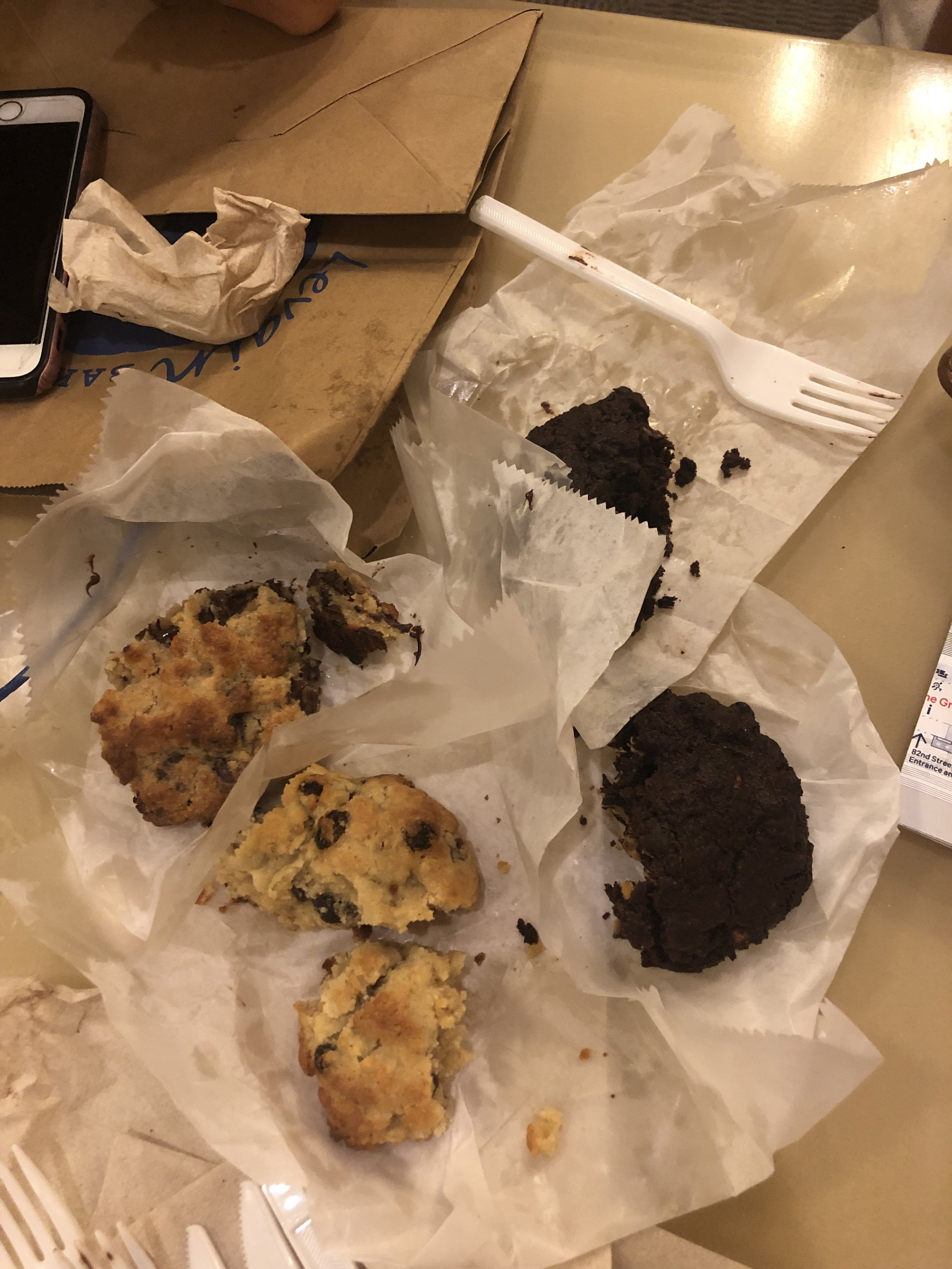 Devouring the Levain cookies :) My personal favorite was the chocolate chocolate chunk.