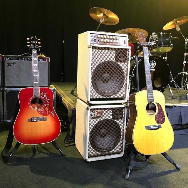Our Rental inventory includes this gorgeous Gibson Hummingbird, Martin D-28 Dreadnaught and SWR Blonde #gibsonhummingbird #swrblonde #martindreadnought #atxbackline